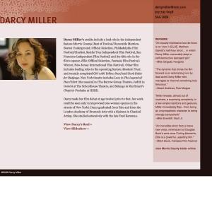 Darcy Miller, Actress